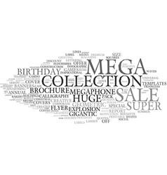 Mega word cloud concept vector