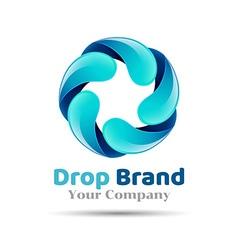 Mineral natural water icon design Aqua drop logo vector