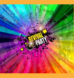 Music Club background for disco dance event vector