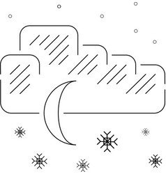 Night snow vector