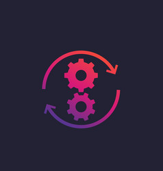 Operations icon with cogwheels vector