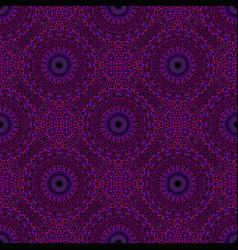 Oriental dark purple mosaic mandala ornament vector