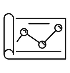 Paper point graph icon outline style vector
