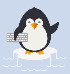 Penguin programmer vector