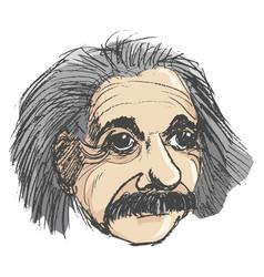 portrait of albert einstein vector image