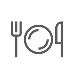 public navigation line icon cafeteria vector image