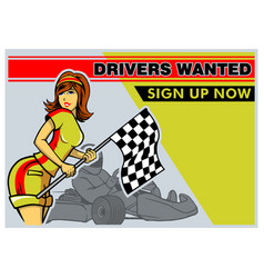 race driver poster vector image