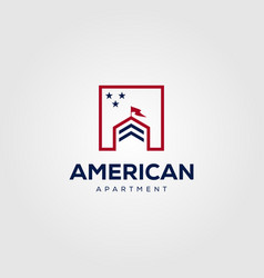 Real estate building house mortgage logo design vector