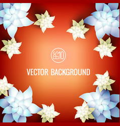 realistic botanical light template vector image