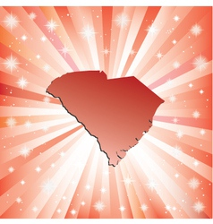 Red South Carolina vector image