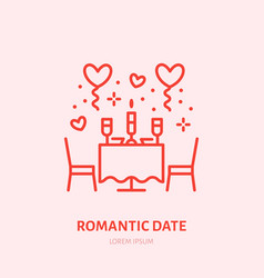 romantic date dinner by candlelight vector image