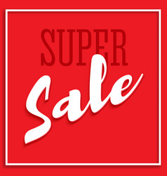 Sale poster with frame volumetric text and shadow vector