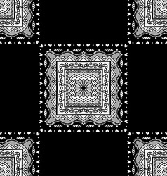 Seamless black pattern vector