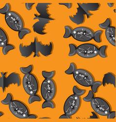 Seamless pattern for halloween holiday background vector