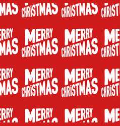 Seamless pattern made from white merry christmas vector