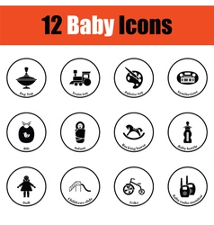 Set of baby icons vector image