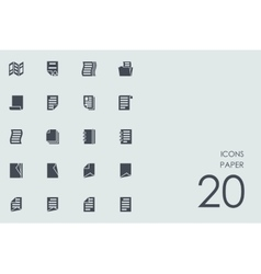 Set of paper icons vector
