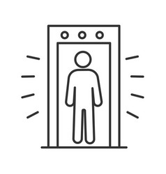 Signaling portal metal detector linear icon vector