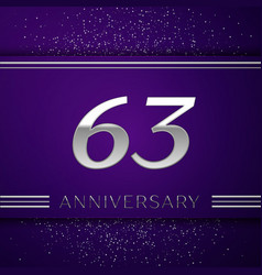 sixty three years anniversary celebration design vector image