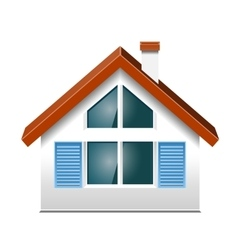 Small house with windows vector