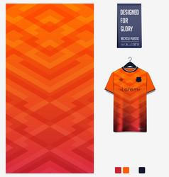 Soccer jersey fabric design geometric pattern vector