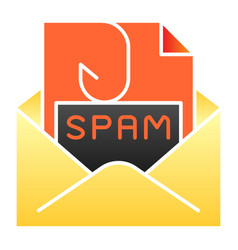 Spam mail flat icon spam letter in envelope color vector