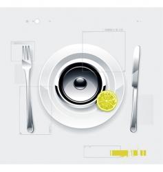 Speaker on plate vector