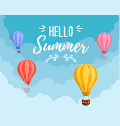 summer sale balloon vector image