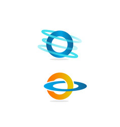 technology orbit web rings logo design vector image