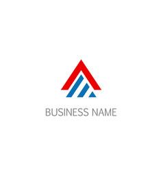 triangle shape line business company logo vector image