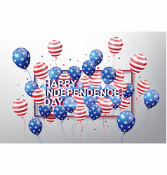 Usa flag pattern balloons with 4th of july concept vector
