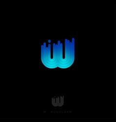 w monogram logo rounded stripes gradient vector image