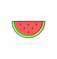 Watermelon linear color icon vector