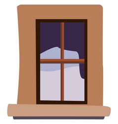 window on white background vector image