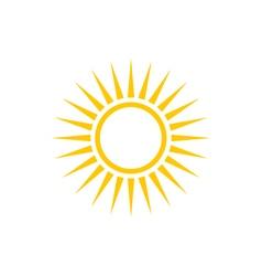 Yellow Sun Icon Line Style Design vector