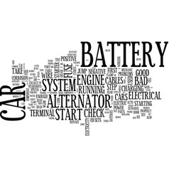 Your cars electrical system text background word vector