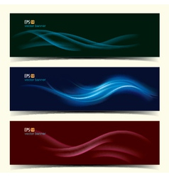 Abstract banner set vector image vector image