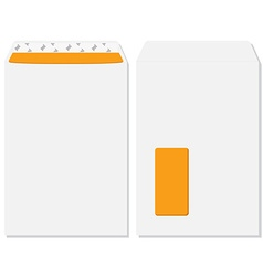 Envelope front and back view vector image vector image
