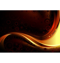 Gold abstract composition vector image vector image