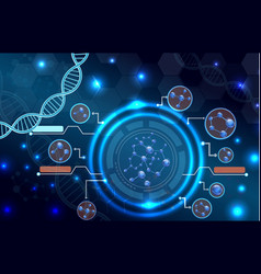 molecular structure and dna background vector image