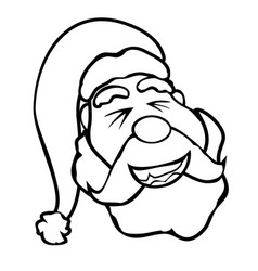 santa claus face outline vector image