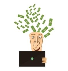 Businessman win Online business deal flat vector image vector image