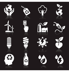 Ecology icons set3 vector image vector image