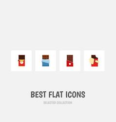 Flat icon bitter set of chocolate bar shaped box vector