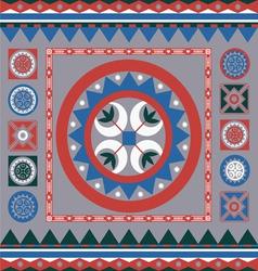 floral ornamental winter design vector image