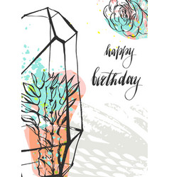 hand drawn abstract unusual universal happy vector image vector image