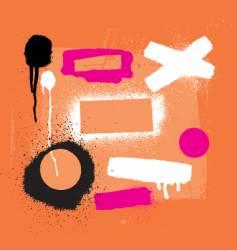 stencil tools vector image vector image