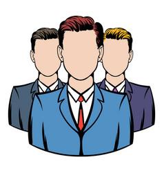 businessmen icon cartoon vector image