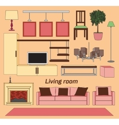 Cool graphic living room vector image