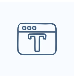 Design editor tool sketch icon vector image vector image